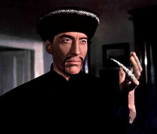 Christopher Lee as Fu Manchu