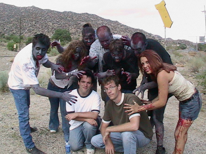 Scott S Phillips and zombies from The Stink of Flesh